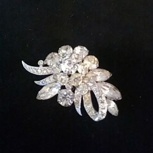 Antique crystal brooch